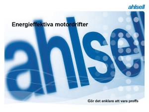 Ahlsell Motordrifter Energieffektiv 2015